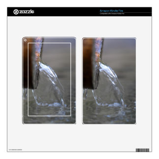 Water stream on  a well decals for kindle fire