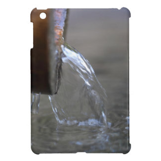 Water stream on  a well iPad mini cover