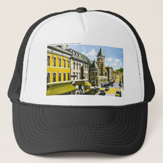 Water Street and Post Office, Augusta, Maine Trucker Hat