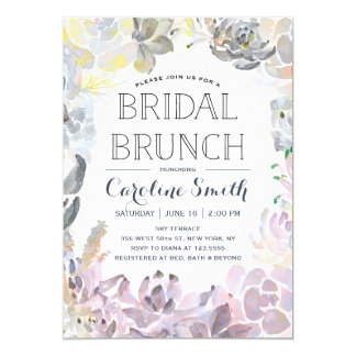 Water Succulents | Bridal Brunch Card