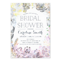 Water Succulents | Bridal Shower Card