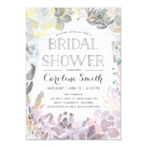 Water Succulents   Bridal Shower Card
