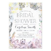 Water Succulents | Bridal Shower Invitation