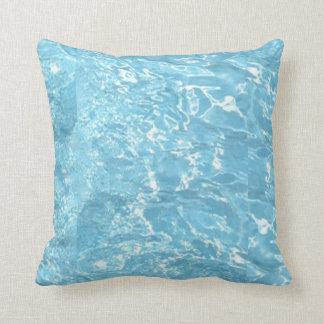 Water Summertime Sunlight Blue White Pool 2 Pillow