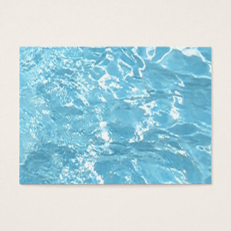 Water Summertime Sunlight Blue White Pool Business Card