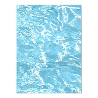 Water Summertime Sunlight Blue White Pool Card