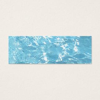 Water Summertime Sunlight Blue White Pool Mini Business Card