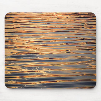 Water surface gold mouse pad