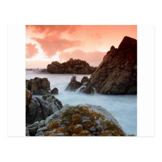 Water Surreal Sundown South Africa Postcard