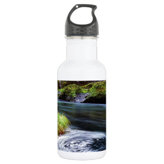 Water Swirling Eddy Clackamas River Oregon Stainless Steel Water Bottle