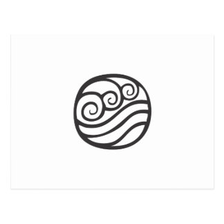 Water Symbol Postcard