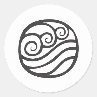 Water Symbol Round Sticker