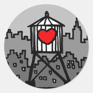 Water Tank Valentine Classic Round Sticker