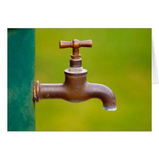 Water tap greeting card