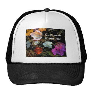 Water Tapestry Autumn Leaves on Water Trucker Hats