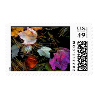 Water Tapestry Autumn Leaves on Water Postage