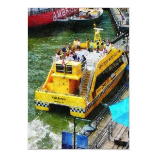 Water Taxi at South Street Seaport NY Card
