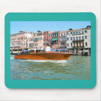 Water taxi in Venice Mouse Pad