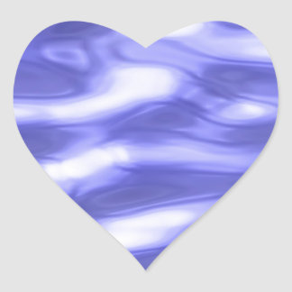 Water texture heart sticker