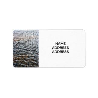 Water Texture Label