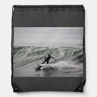 Water Themed, A Black And White Picture Of A Man S Backpacks