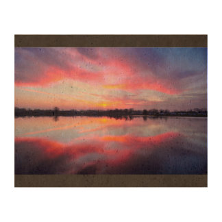 Water Themed, A Lake Reflecting The Sky Full Of Pi Photo Cork Paper