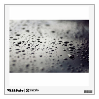 Water Themed, A Metallic Surface Covered With Wate Wall Decal