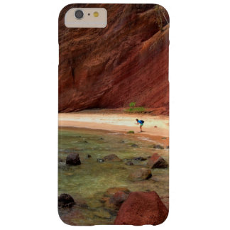 Water Themed, A Unique Beach With Red Rocks And Cl Barely There iPhone 6 Plus Case