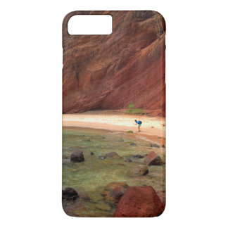 Water Themed, A Unique Beach With Red Rocks And Cl iPhone 7 Plus Case