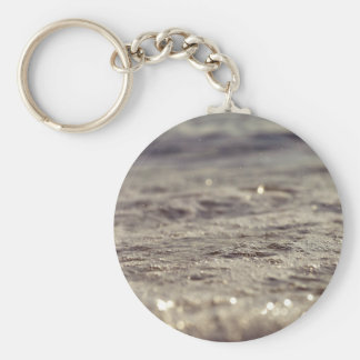 Water Themed, Glistening Bubbles Of Foam Catch The Basic Round Button Keychain