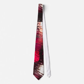 Water Themed, Water Flowing On The Surface Of A Gl Neck Tie