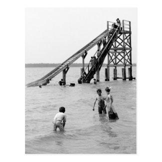 Water Toboggan, Bois Blanc Island, MI 1903 Postcard