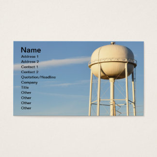 water tower business card