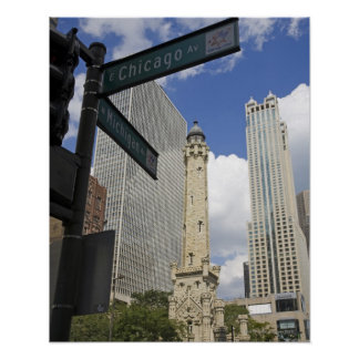 Water Tower, Chicago, Illinois, USA Poster