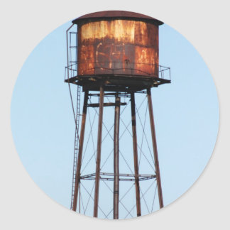 Water Tower Classic Round Sticker