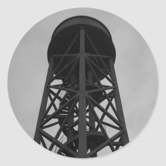 water tower classic round sticker