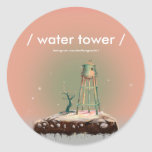water, tower, sticker, design, pink, cool, artsy,