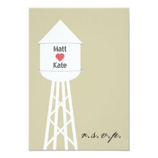 Water Tower Wedding RSVP Card