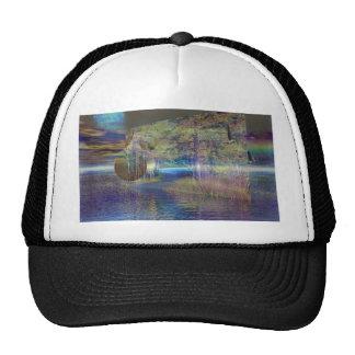 Water trail trucker hat