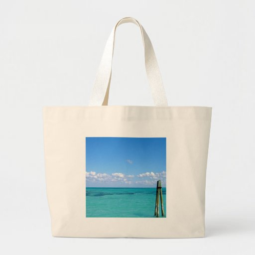 Water Tranquil Ocean Canvas Bag