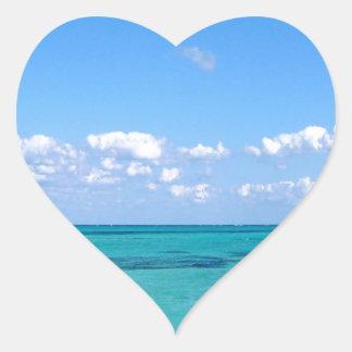 Water Tranquil Ocean Heart Sticker