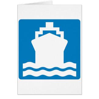 Water Transportation Highway Sign Card