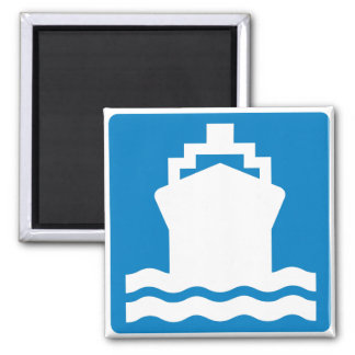 Water Transportation Highway Sign Magnet