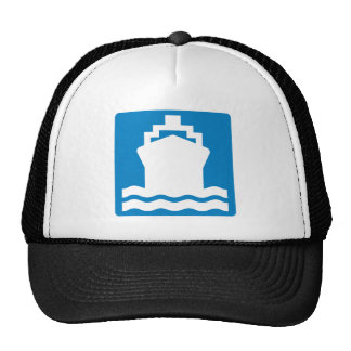 Water Transportation Highway Sign Trucker Hat