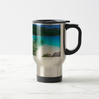 Water Tropical Retreat Seychelles 15 Oz Stainless Steel Travel Mug