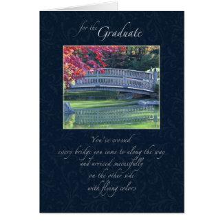 Water Under the Bridge Graduation Congratulations Card