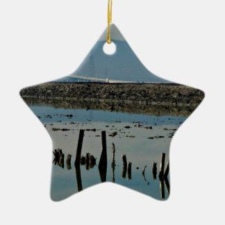Water View At Don Edwards San Francisco Bay Ceramic Ornament