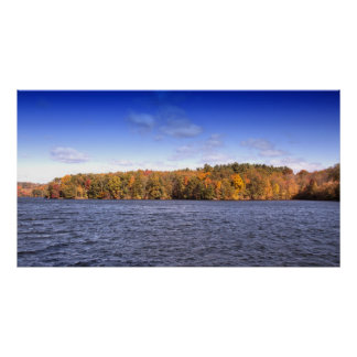 Water View Of Perfect Autumn Day Poster