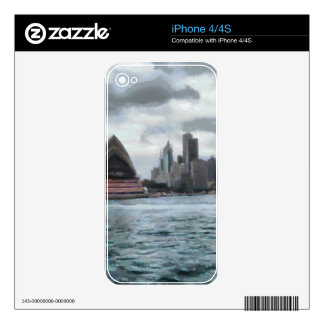 Water view of Sydney Decal For The iPhone 4S