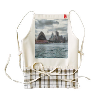 Water view of Sydney Zazzle HEART Apron